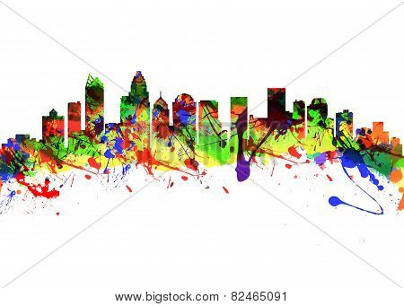 Charlotte North Carolina Usa City Skyline