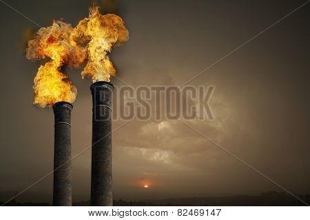Carbondioxide contamination of the atmosphere