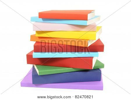 Untidy Stack Of Colorful Paperback Books
