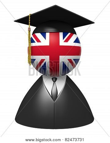 United Kingdom college graduate concept for schools and education