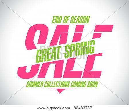 Great spring sale banner.
