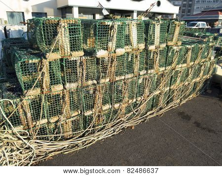 Fishing Creels Stacked