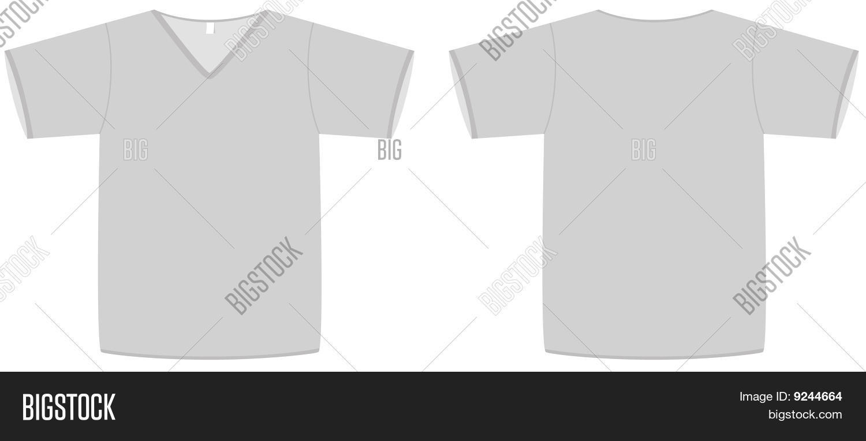 Unisex V-neck T-shirt Template Vector & Photo | Bigstock