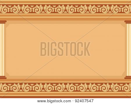 Frame Illustration Featuring Cornices with Elaborate Designs