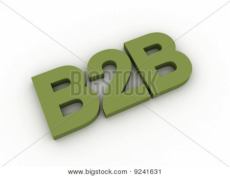 Olive Green 3D Letters Spelling B2B