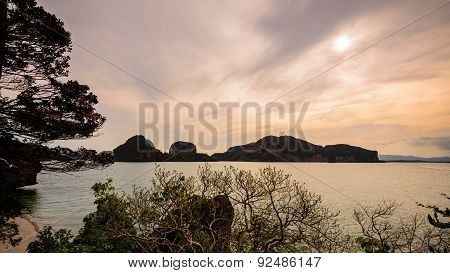 Beautiful Sea Around The Khao Tapu Island