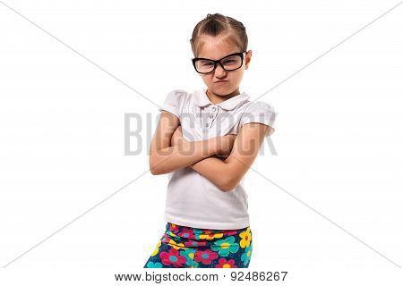 Little Girl In Glasses