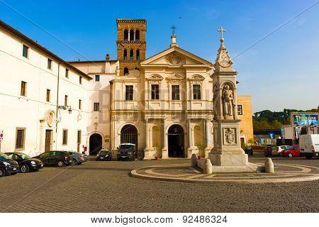 Basilica Of St. Bartholomew On The Island In Rome, Italy.