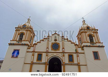 Cathedral church of Santiago Apostol in Santiago Panama. poster