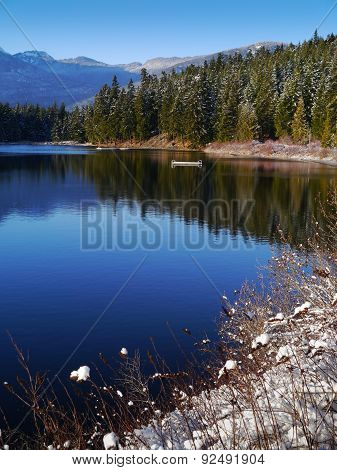 Lost Lake in Whistler after an early Snowfall, BC, Canada