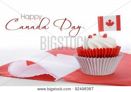 Happy Canada Day Cupcake
