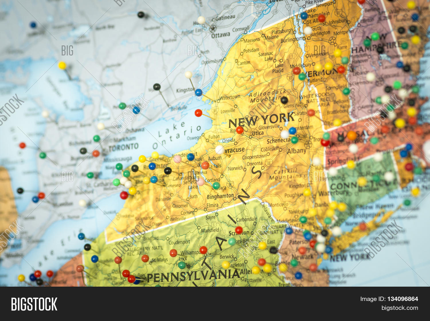 Colorful Detail Map Image Photo Free Trial Bigstock - Us-map-close-up