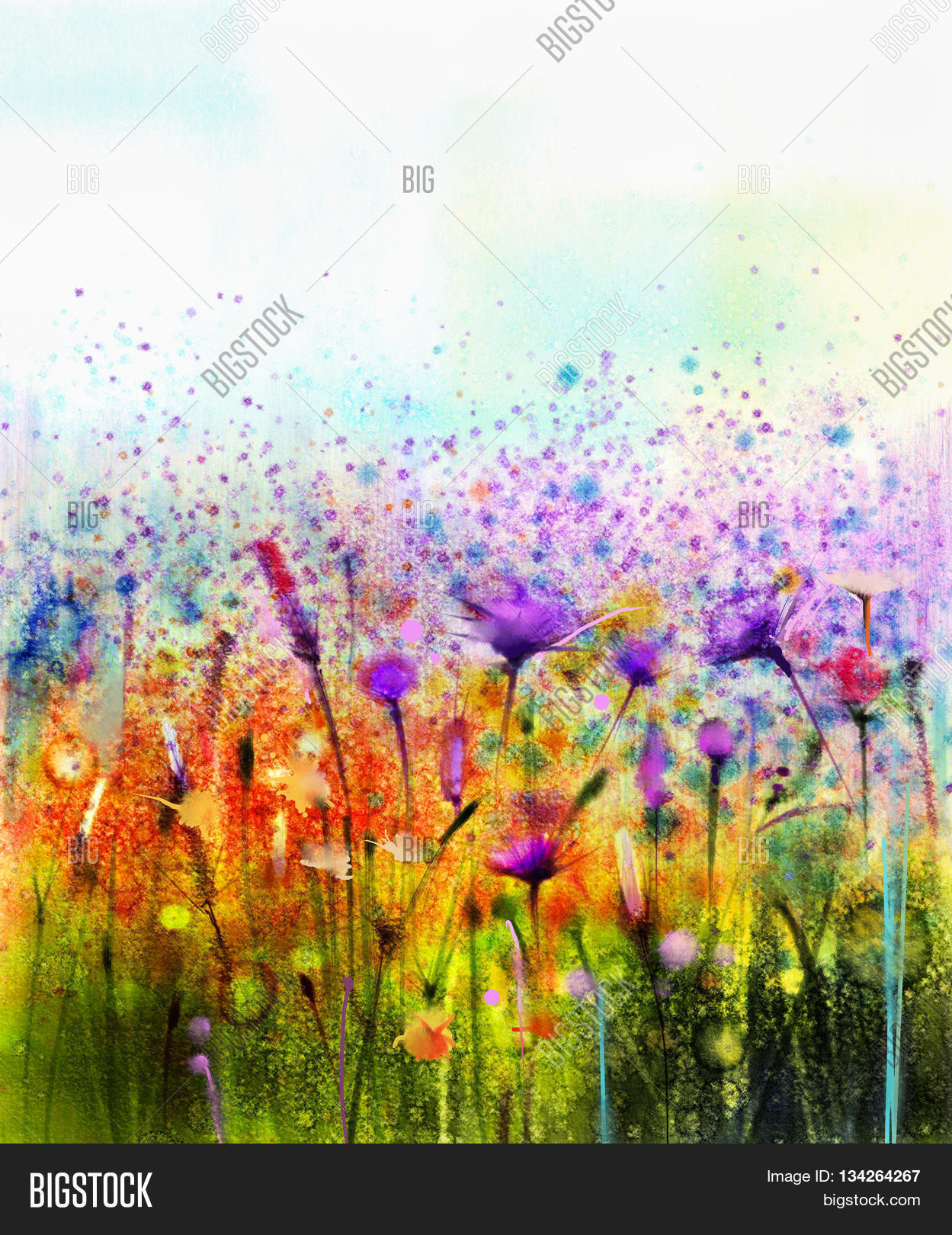 Abstract watercolor image photo free trial bigstock for How to paint abstract with watercolors