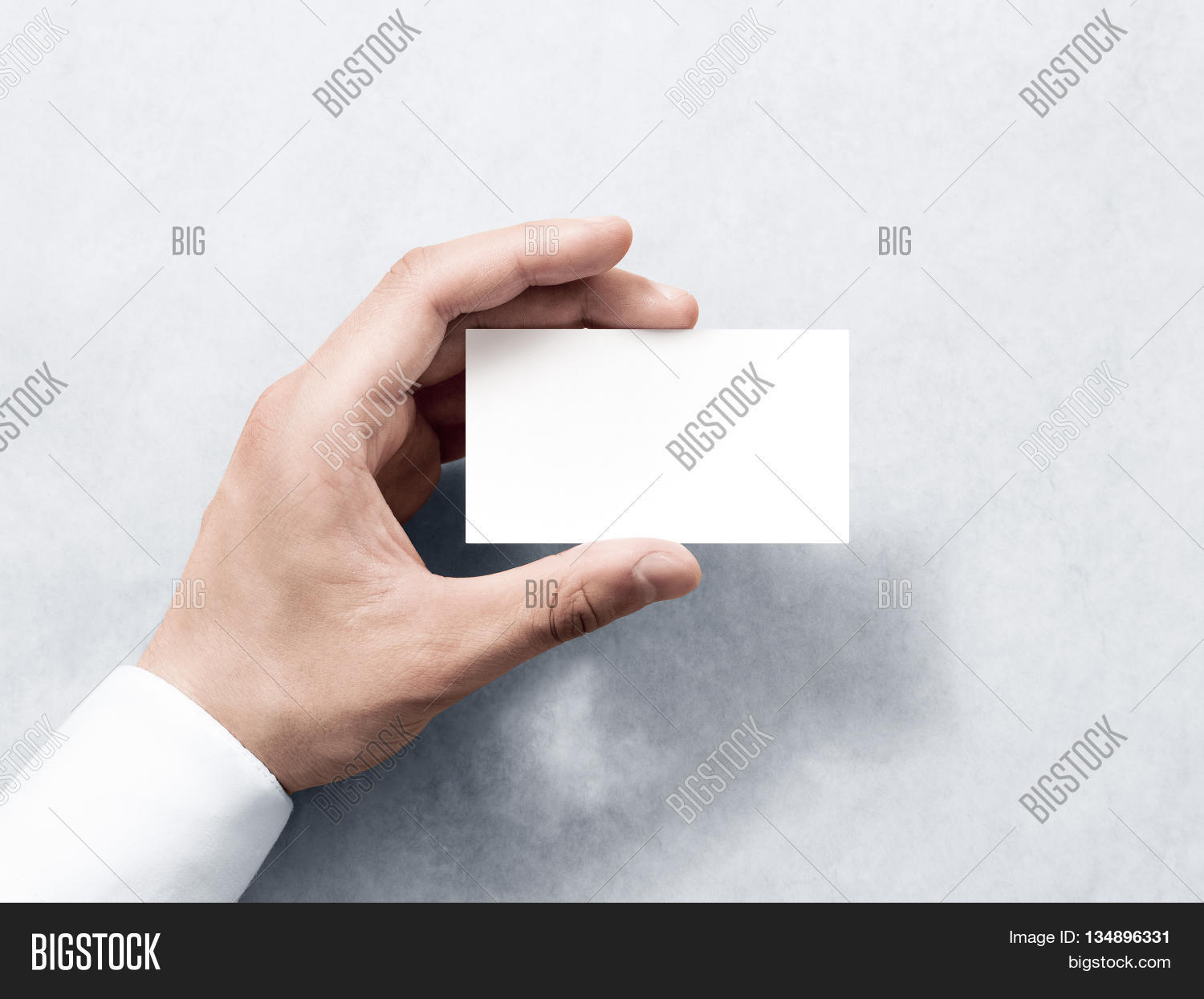 Hand Hold Blank Plain White Image & Photo | Bigstock