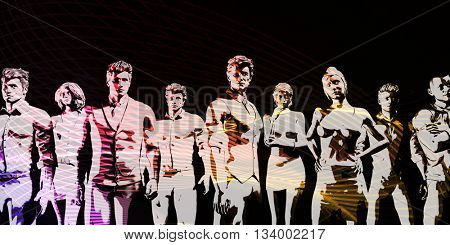Human Resources Management Manpower Workforce Concept Art 3d Illustration Render