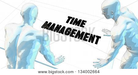 Time Management Discussion and Business Meeting Concept Art 3d Illustration Render