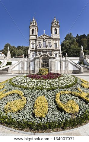 The neoclassical Basilica of Bom Jesus (Good Jesus) in Braga Portugal