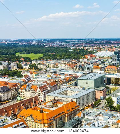Aerial View To City Of Leipzig