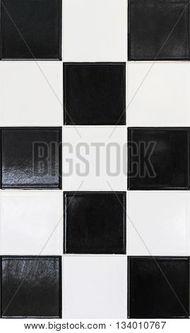 Black And White Wall Tiles In Harmonic Pattern
