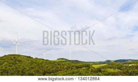 Wind Mills Producing Energy