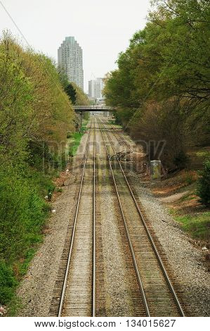rail way tracks expanding to Raleigh downtown