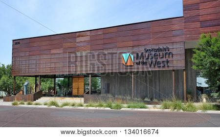 SCOTTSDALE, ARIZONA - JUNE 10, 2016: Museum of the West is located in Old Town Scottsdale, Arizona on the former site of the Loloma Transit Station.