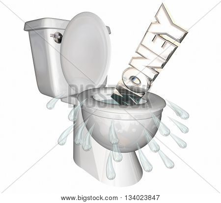 Money Wasted Word Flushed Down Toilet 3d Illustration.jpg