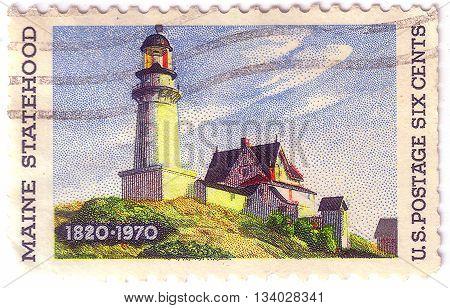 United States Of America - Circa 1970: A Stamp Printed In The United States Of America Shows Image C