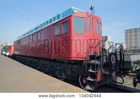 SAINT PETERSBURG, RUSSIA - MARCH 30, 2016: The first Soviet experimental locomotive system Y. M. Gakkel (YAG
