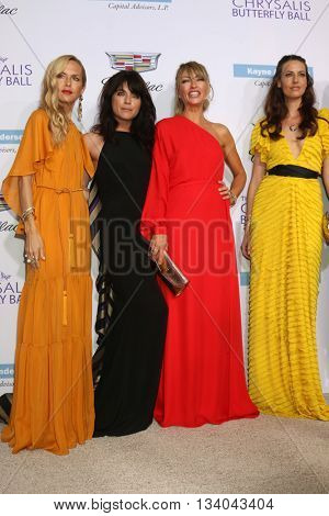 LOS ANGELES - JUN 11:  Rachel Zoe, Selma Blair, Rebecca Gayheart, Liz Carey at the 15th Annual Chrysalis Butterfly Ball at the Private Residence on June 11, 2016 in Brentwood, CA