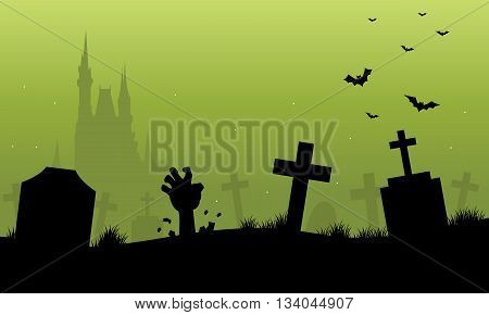 Green backgrounds halloween scenery a very scary