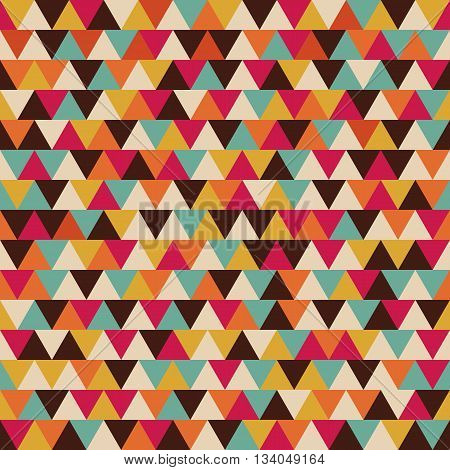 seamless triangle pattern color stripe retro style