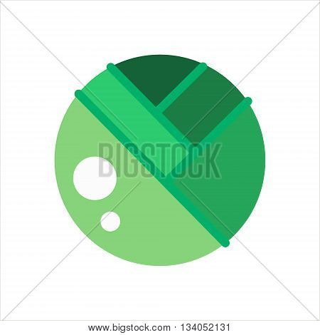 Cabbage icon. Green cabbage vegetable. Flat cabbage on white background - vector stock.