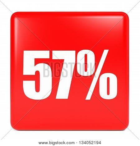 Discount 57 Percent Off. 3D Illustration.