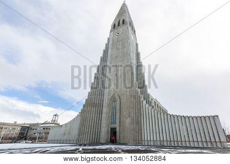 Iceland Hallgrimskirkja Cathedral Reykjavik