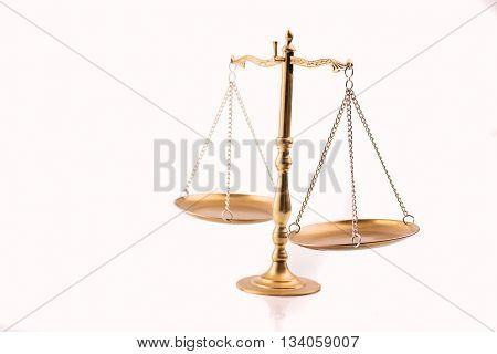 Golden Scales Of Justice - The Symbol Of Law