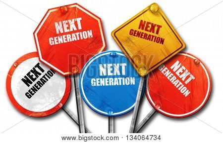 next generation, 3D rendering, rough street sign collection