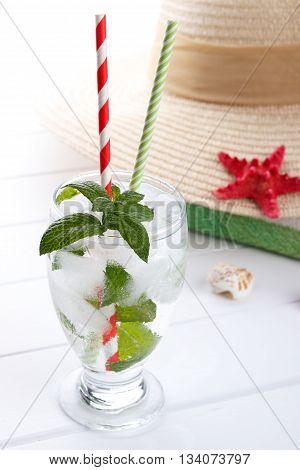 Refreshing Water With Mint