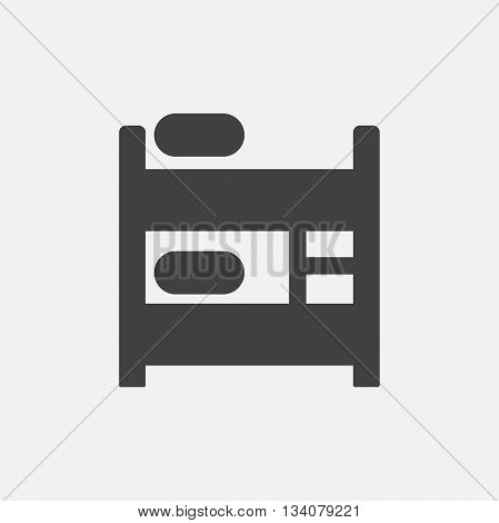 Bunk bed icon vector. Bunk bed sign isolated on white background