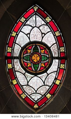 Gothic Window From Stained Glass