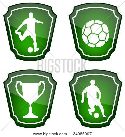 soccer icons - vector