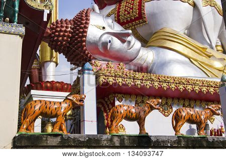 Temple On The Chao Praya River Bangkok Thailand