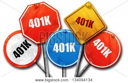 401k, 3D rendering, rough street sign collection