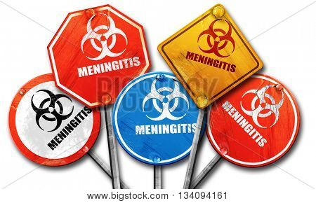 Meningitis virus concept background, 3D rendering, rough street