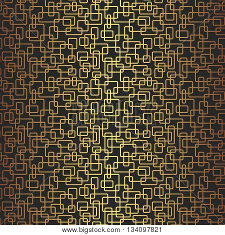 Modern Stylish Irregular Geometric Background With Structure Of Repeating Golden Rectangle Frames. V