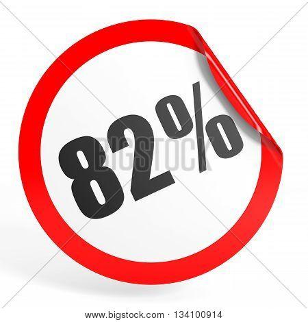 Discount 82 Percent Off. 3D Illustration.