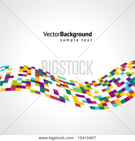 Abstract colorful mosaic wave vector background