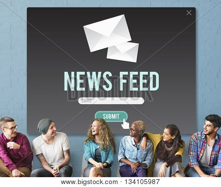 News Feed Announcement Communication Events Concept