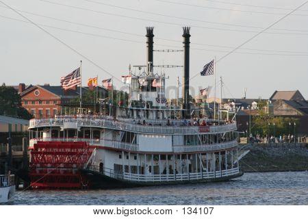Mississippi River Paddlewheel Boat