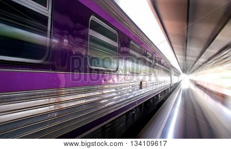 Purple bogies of Train (motion speed style)